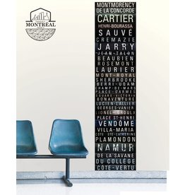 Wall decal - Orange line mural 2' x 8'