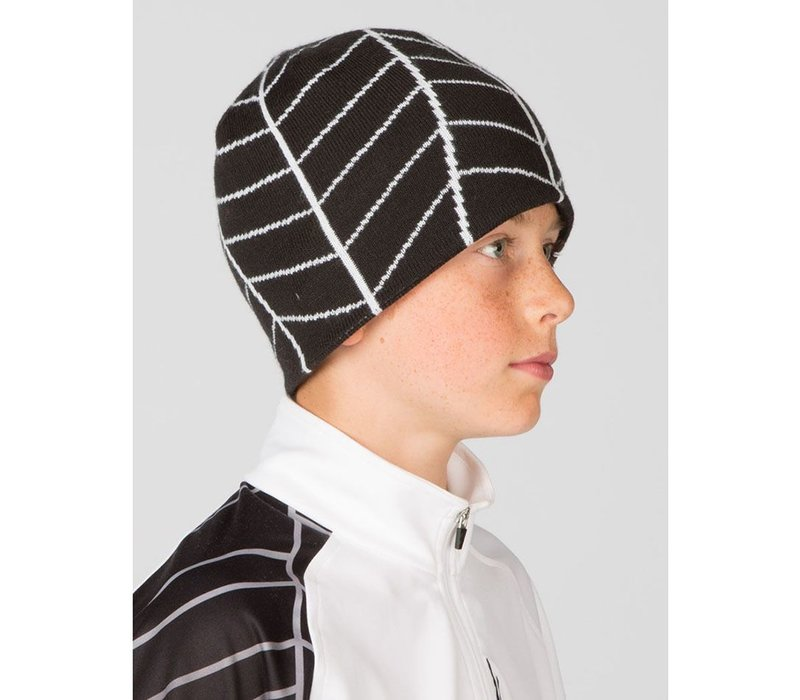 SPYDER BOY'S WEB HAT - BLK/WHT 001 (15/16)