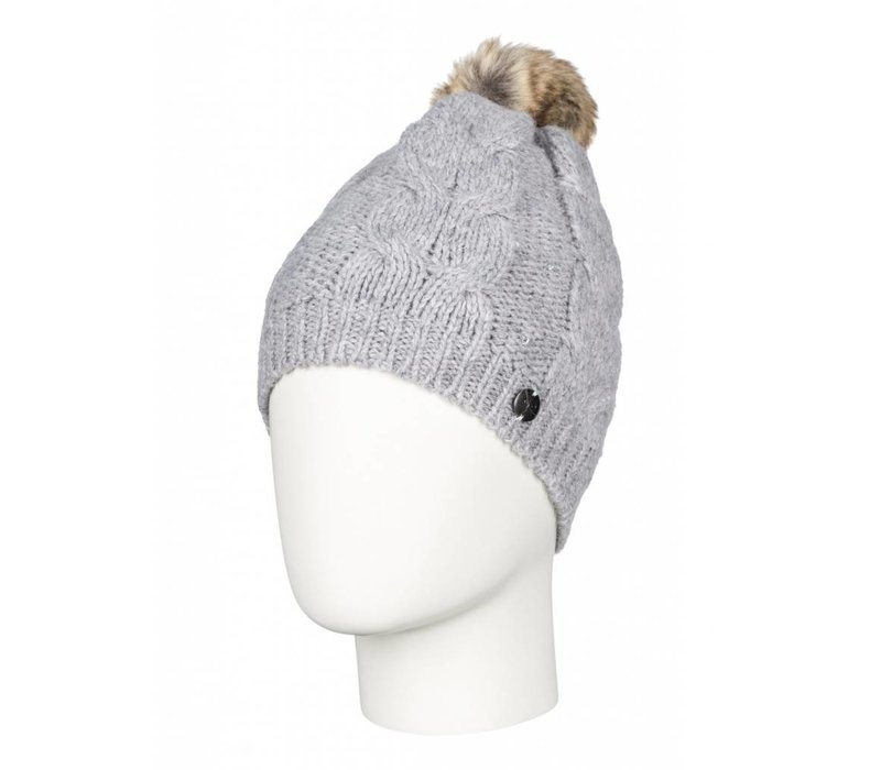 Roxy Shooting Star Premium Beanie Heather Grey-SGRH (15/16)