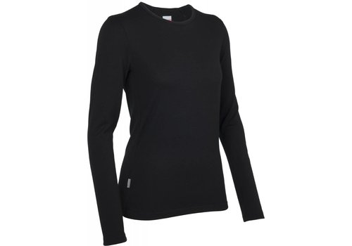 ICEBREAKER Icebreaker Wmns Tech Top LS Crewe Black-001 (15/16)