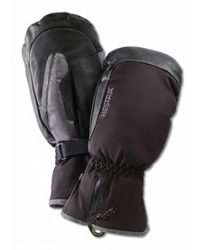 Hestra Czone Leather Mitt - Black/Grey (15/16)