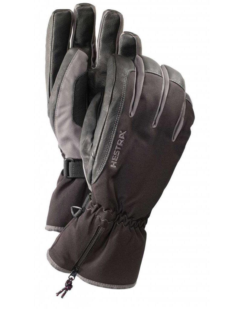 HESTRA Hestra Czone Leather Glove - Black/Grey (15/16)