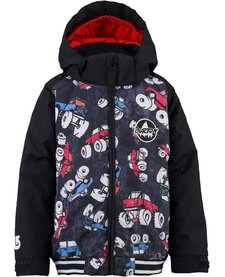 Burton Boys Mini Shred Game Day Jk Offroad / True Black -041 (16/17) With Burton Mini Shred Maven Bib Pt True Black -002 (16/17)