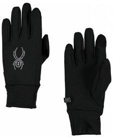 Spyder Womens Stretch Fleece Conduct Glove Blk/Slv -001 (16/17)