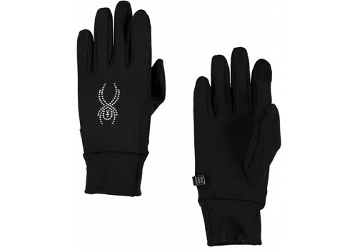 SPYDER Spyder Womens Stretch Fleece Conduct Glove Blk/Slv -001 (16/17)