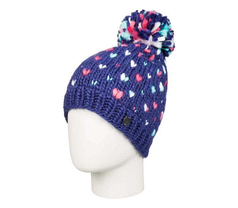 Roxy Girls Dena Beanie Blue Print -Bsq0 (16/17)