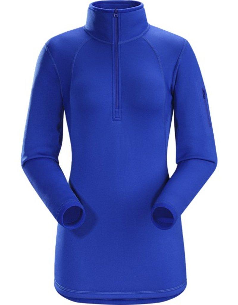 ARC'TERYX Arc'Teryx Womens Rho Ar Zip Neck Top Somerset Blue - (16/17)