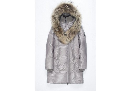 Ookpik Womens Contessa Natural Coat Stone - (16/17)