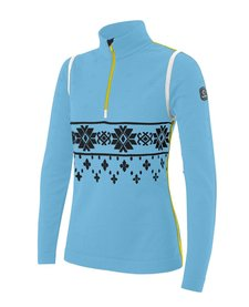 Newland Womens Emma T-Neck 1/2 Zip Turquoise -58 (16/17)