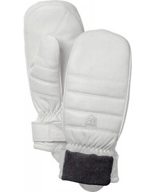 Hestra Womens Alpine Leather Primaloft Mitt Off White - (16/17)
