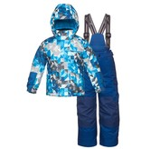 JUPA Jupa Boys Yurri 2 Pc Suit Blue Paint Print -Bl042-A7 (16/17)