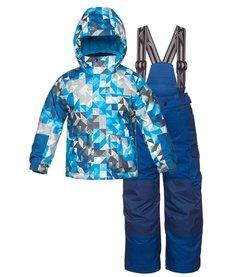 Jupa Boys Yurri 2 Pc Suit Blue Paint Print -Bl042-A7 (16/17)