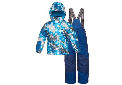 JUPA Jupa Boys Yurri 2 Pc Suit Blue Paint Print -Bl042-A7 (16/17)