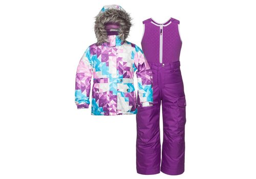 JUPA Jupa Girls Maya 2 Pc Suit Cosmos Lilac Print -Pk043-A3 (16/17)