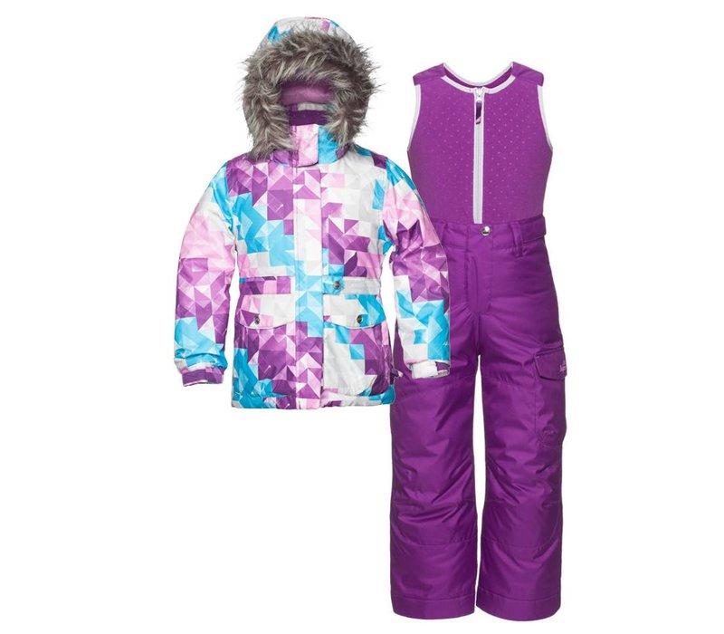 Jupa Girls Maya 2 Pc Suit Cosmos Lilac Print -Pk043-A3 (16/17)