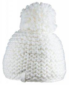 Bula Womens Crochet Beanie White -White (16/17) O/S