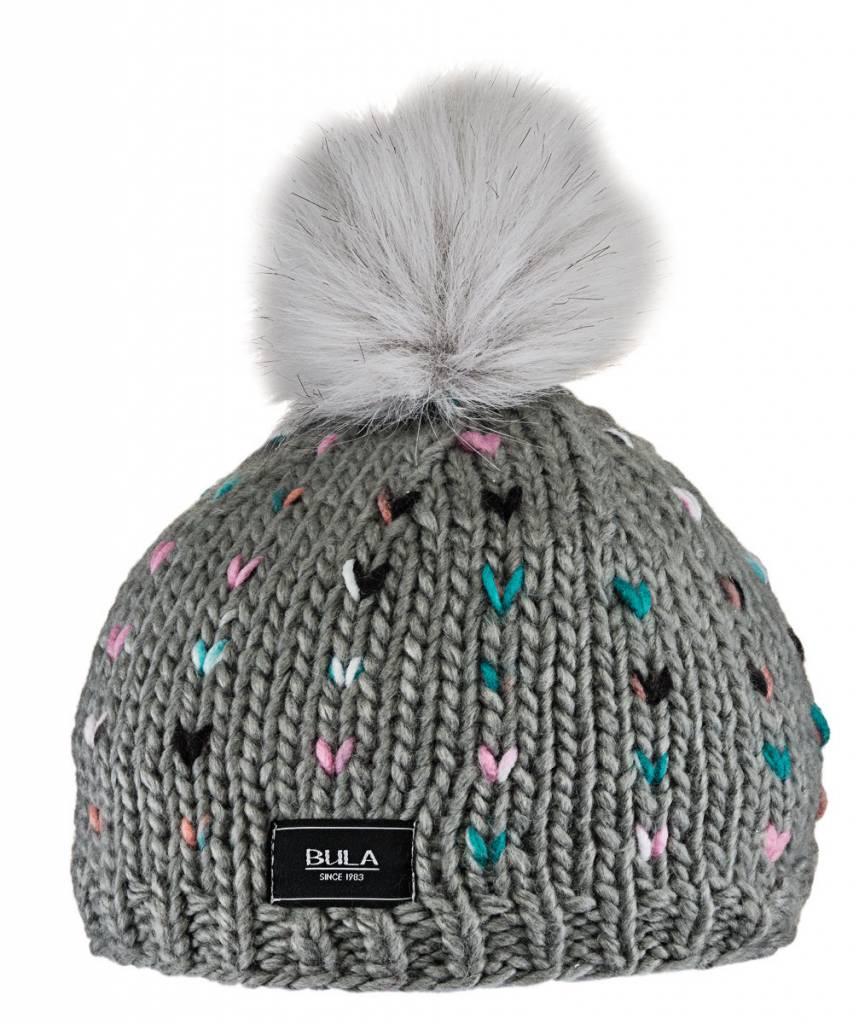 BULA Bula Girls Kids Candy Beanie H- Medium Grey -H-Medg (16/17) O/S