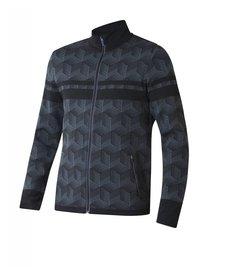 Newland Mens Bellamonte Full Zip With Pockets Sweater Black/Dark Grey -167 (17/18)