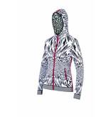 NEWLAND Newland Womens La Le Blanc Hoody Full Zip With Pockets Sweater Black/White -108 (17/18)