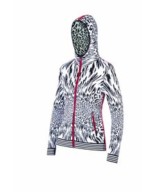 Newland Womens La Le Blanc Hoody Full Zip With Pockets Sweater Black/White -108 (17/18)