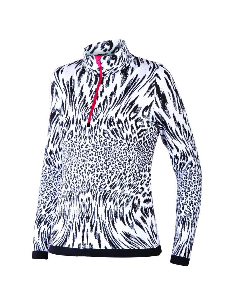NEWLAND Newland Womens Klosters 1/2 Zip Sweater Black/White -108 (17/18)