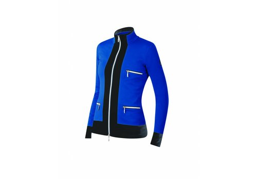 NEWLAND Newland Womens Innsbruck Full Zip With Pockets Sweater Royal Blue/Black -225 (17/18)