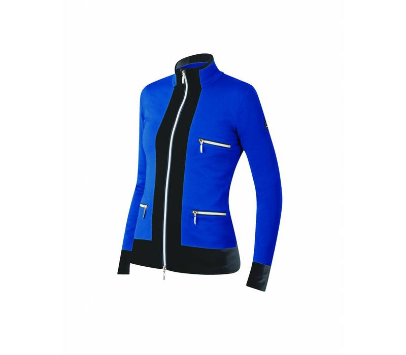 Newland Womens Innsbruck Full Zip With Pockets Sweater Royal Blue/Black -225 (17/18)