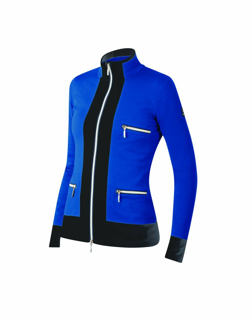 NEWLAND Newland Womens Innsbruck Full Zip With Pockets Sweater Royal Blue/Black -225 (17/18)