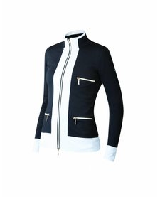 Newland Womens Innsbruck Full Zip With Pockets Sweater Black/White -108 (17/18)