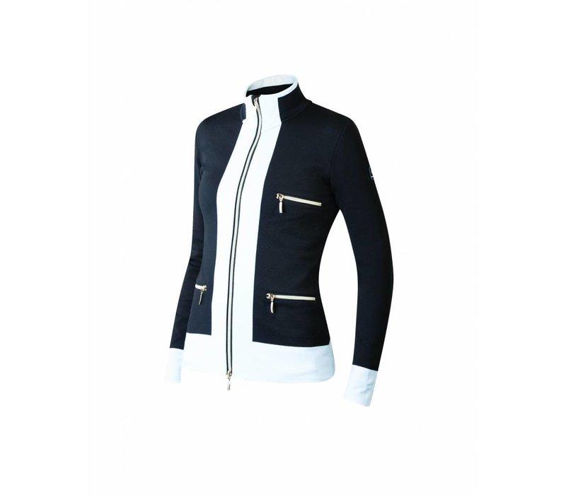 Newland Womens Innsbruck Full Zip With Pockets Sweater Black/White -108 (17/18)
