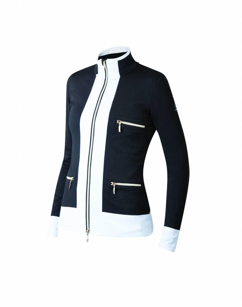 NEWLAND Newland Womens Innsbruck Full Zip With Pockets Sweater Black/White -108 (17/18)