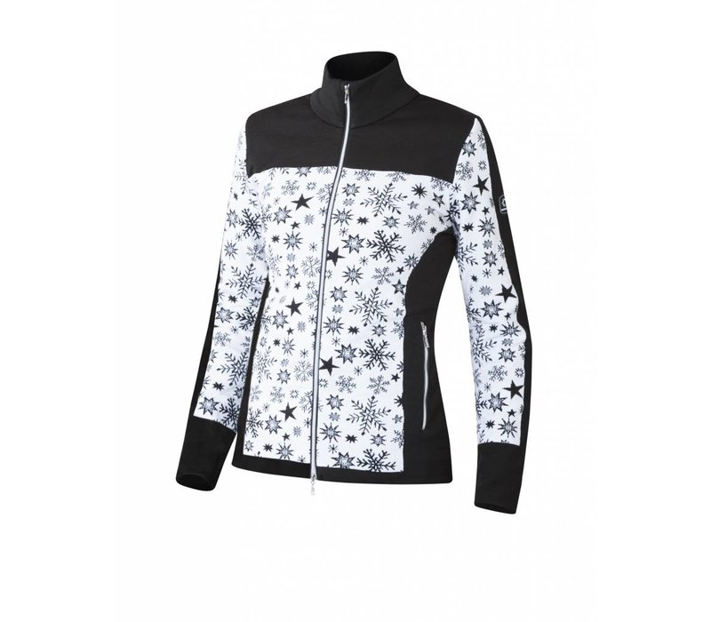 Newland Womens Chréa Full Zip With Pockets Sweater Black/White -108 (17/18)