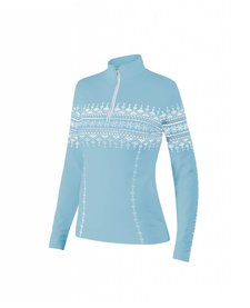 Newland Womens Lusia T-Neck 1/2 Zip Sweater Light Blue/White -165 (17/18)