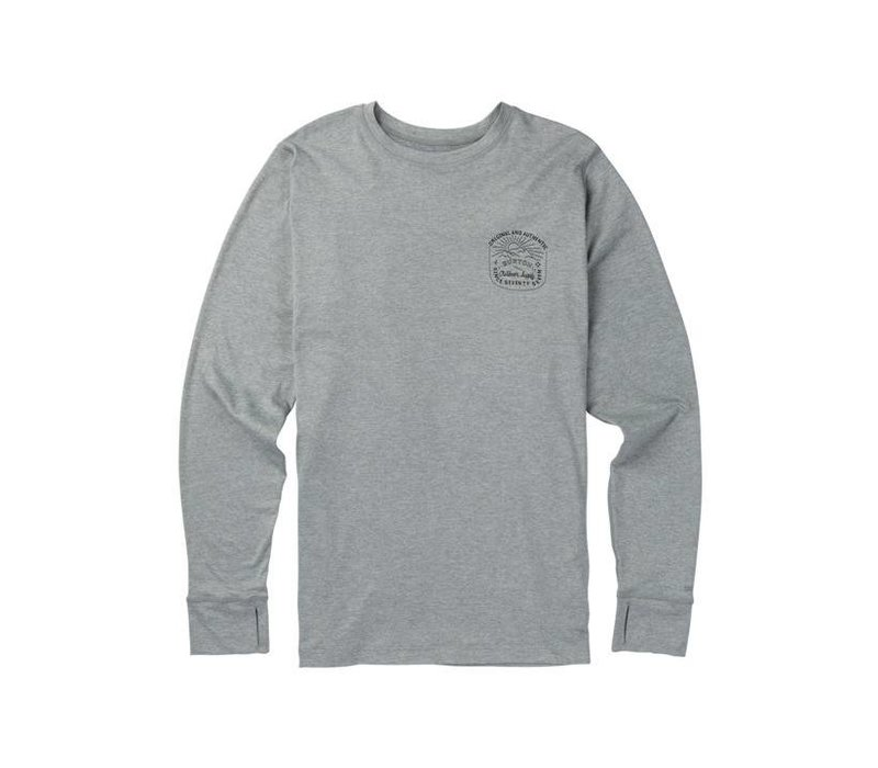 Burton Mens Midweight Crew Monument Heather -020 (17/18)