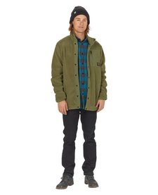 Burton Mens Hearth Snap Up Fleece Olive Night -300 (17/18)