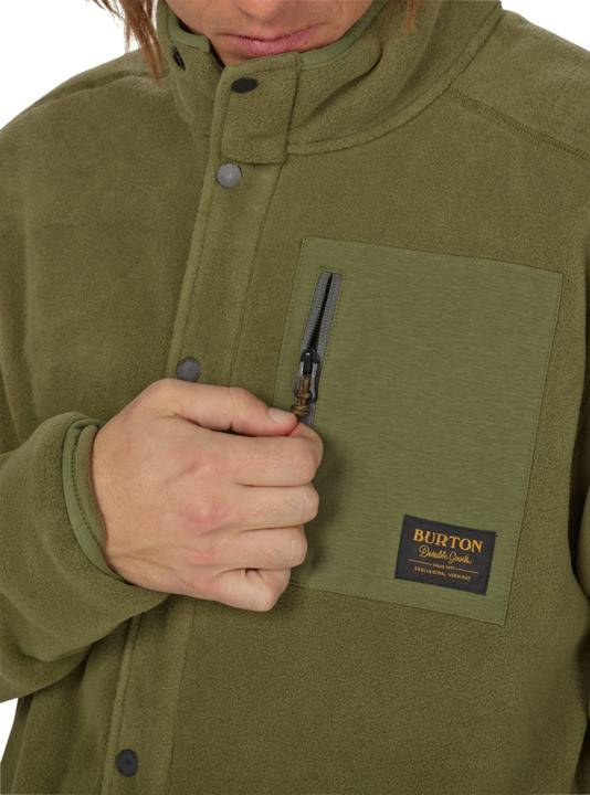 BURTON Burton Mens Hearth Snap Up Fleece Olive Night -300 (17/18)