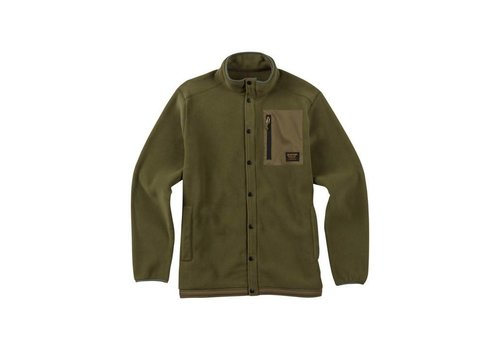BURTON Burton Mens Hearth Snap Up Fleece Olive Night -300 (17/18)