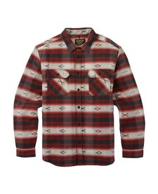 Burton Mens Brighton Burly Sherpa Flannel Fired Brick Azrek -963 (17/18)