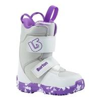 Burton Girls Mini - Grom White/Purple Snowboard Boot -113 (17/18)