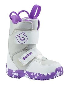 Burton Girls Mini - Grom White/Purple Snowboard Boot -113 (17/18)