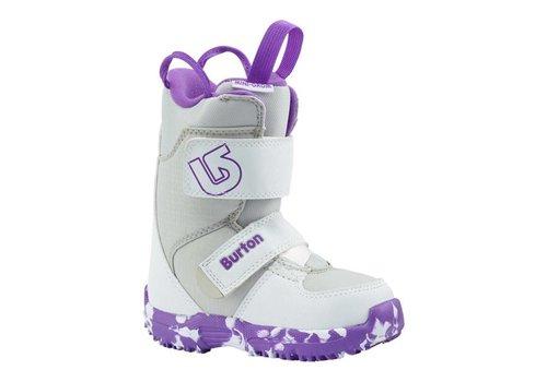 BURTON Burton Girls Mini - Grom White/Purple Snowboard Boot -113 (17/18)