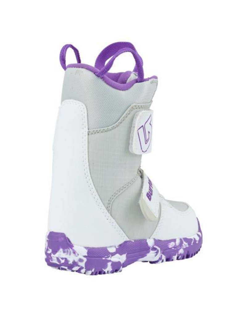 BURTON Burton Girls Mini - Grom White/Purple Snowboard Boot -113 (17/18)