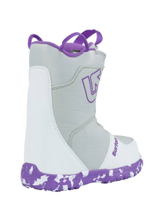 BURTON Burton Girls Grom Boa White/Purple Snowboard Boot -113 (17/18)