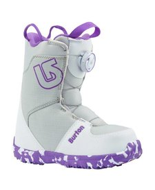 Burton Girls Grom Boa White/Purple Snowboard Boot -113 (17/18)