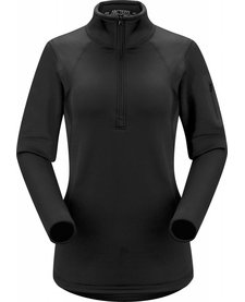 Arc'Teryx Womens Rho Ar Zip Neck Black - (17/18)