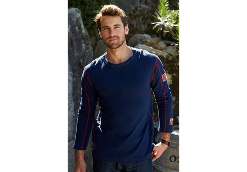 ALP-N-ROCK Alp-N-Rock Lodge Mens L/S Crew Shirt Navy -Nvy (17/18)