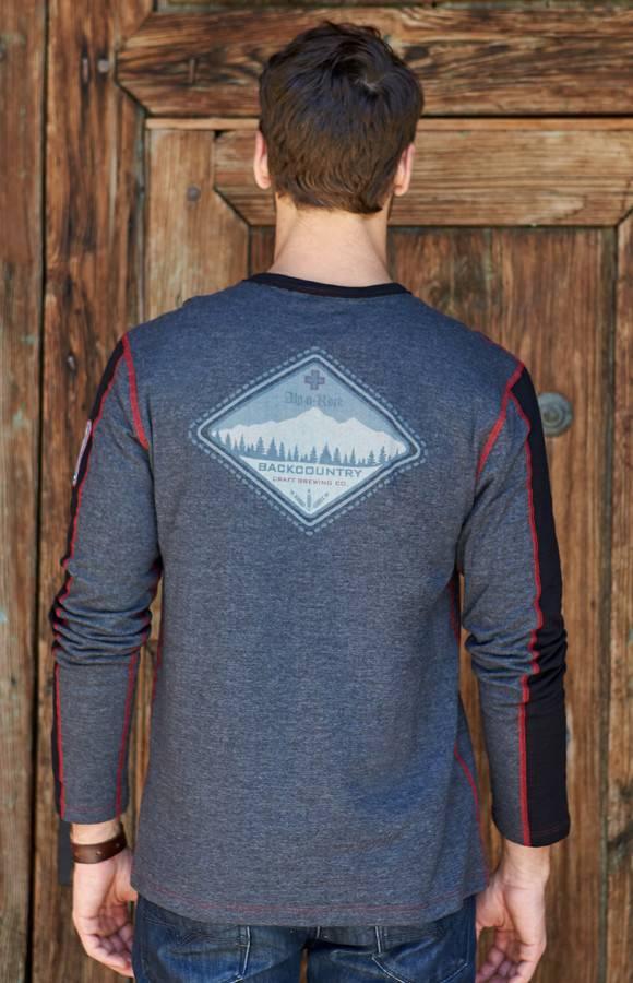 ALP-N-ROCK Alp-N-Rock Backcountry Brew Mens L/S Crew Shirt Heather Black -Hbk (17/18)