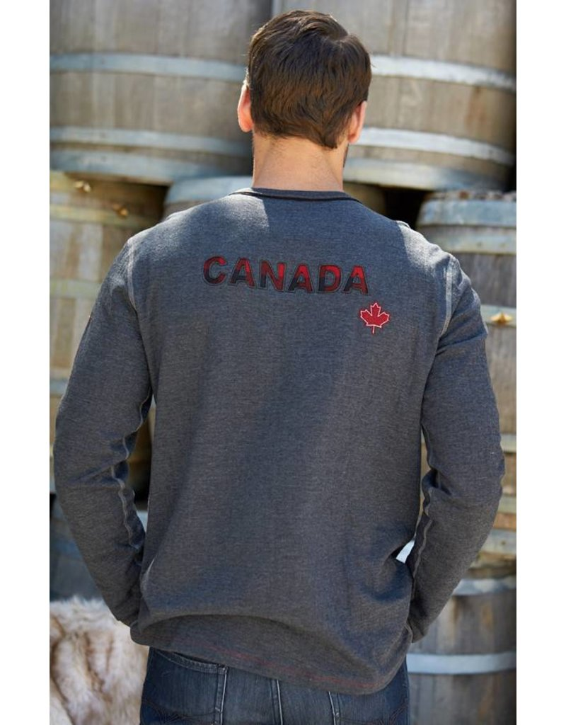 ALP-N-ROCK Alp-N-Rock Retro Ski Canada Mens L/S Crew Shirt Heather Black -Hbk (17/18)