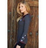 ALP-N-ROCK Alp-N-Rock Vintage Ski Ladies Henley Shirt Heather Black -Hbk (17/18)
