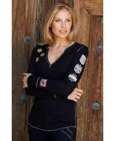 Alp-N-Rock Gondola - Luxe Ladies Henley Shirt Black -Blk (17/18)